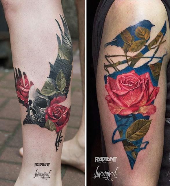Tatuagens de dupla exposição