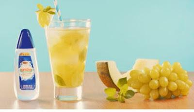 Receita de bebida de uva verde, melão e manjericão com união sucralose