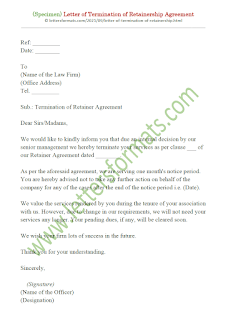 sample letter of termination of retainer agreement
