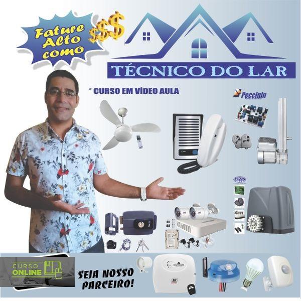 Curso Online Técnico do Lar - Curso Livre de Segurança Eletrônica CFTV,  Sensores  e Automatizações