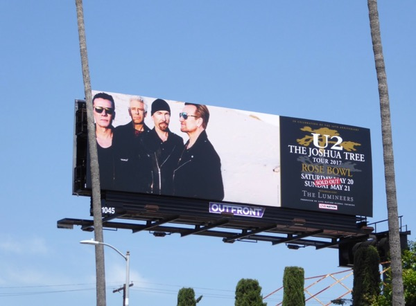 U2 Joshua Tree Tour 2017 billboard