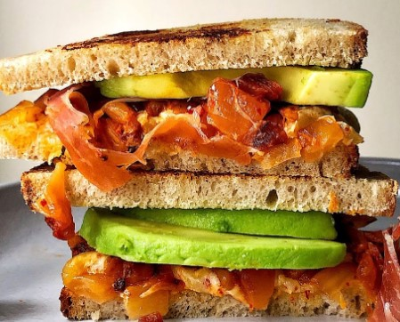 Avocado Kimchi Grilled Cheese