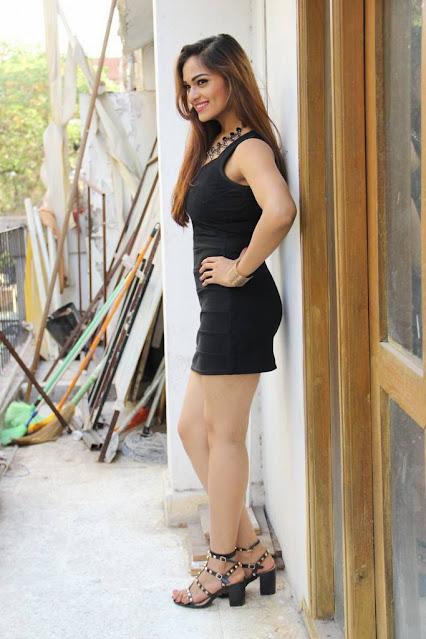 Actress Ashwini Hot Pics In Black Short Skirt Actress Trend