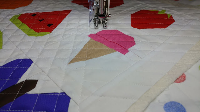Cross-hatch quilting with a walking foot