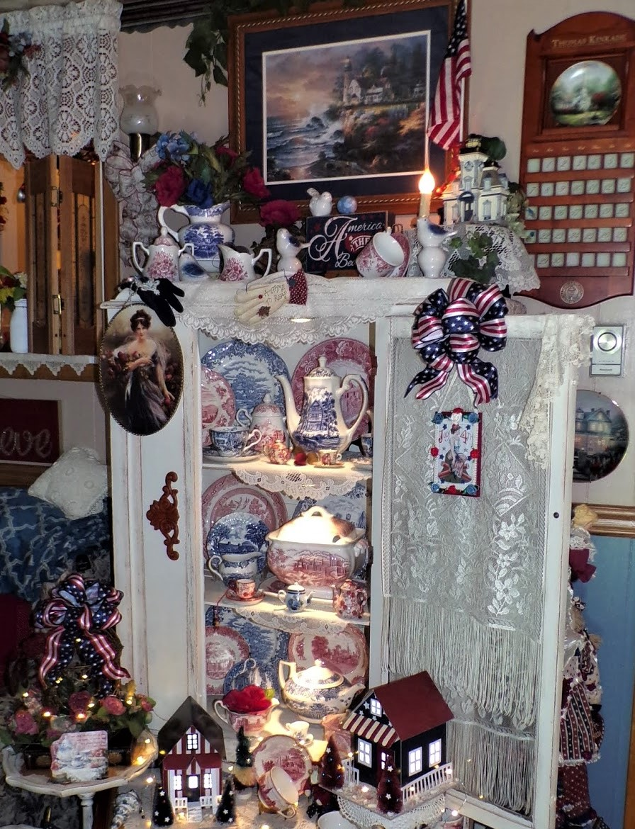 Patriotic China Cupboard