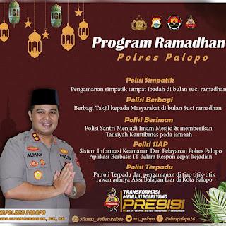 Inisiatif Kondusifkan Kota Palopo di Bulan Suci Ramadhan, Kapolres Palopo Luncurkan 5 Program Ramadhan