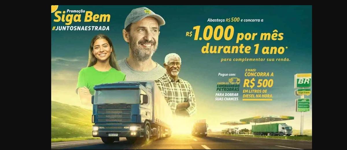 Promoção Siga Bem Petrobras 2020 Juntos na Estrada - Mil Reais Por Mês 1 Ano