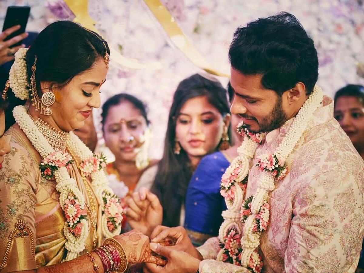 Kannada Actor Nikhil Kumaraswamy - Revathi Engagement