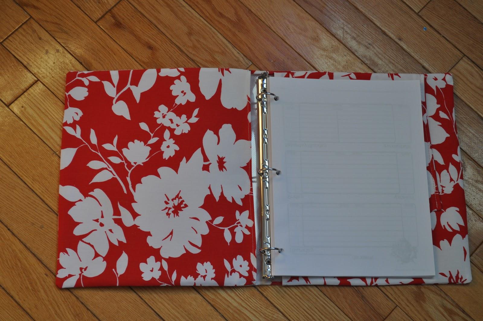 Happiness Is Homemade Fabric Covered Binder
