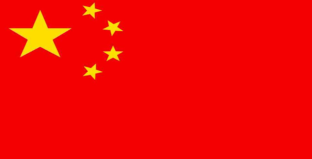 What is the main color of the Chinese national flag?