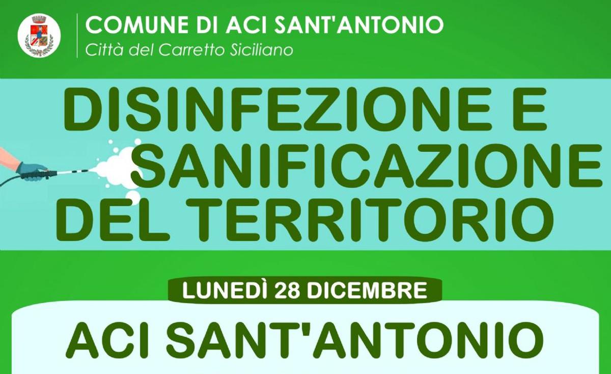 Disinfezione antiCovid ad Aci Sant'Antonio