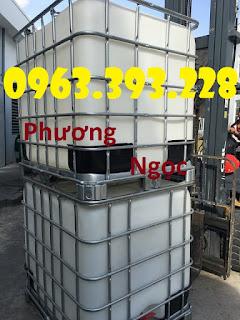 Bồn nhựa 1 khối đã qua sử dụng, Tank nhựa IBC cũ, bồn chứa nước 1000L C50b958ae64b04155d5a