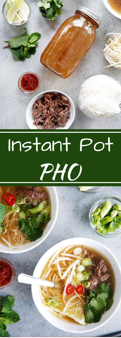 Instant Pot Pho #healthydiet #vegetarian # dinner #easy #pho