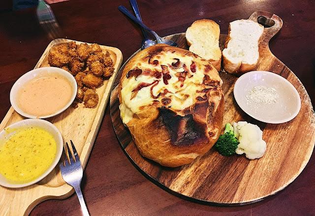 Bánh mì đúc lò hải sản phomai kiểu Pháp