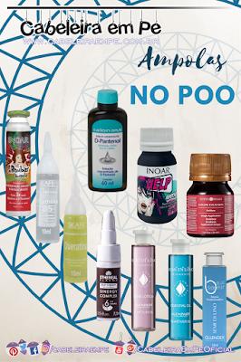 10 ampolas liberadas para No Poo da Salon Opus, Skafe, Surya, Inoar, WNF, Alfaparf e Gllendex