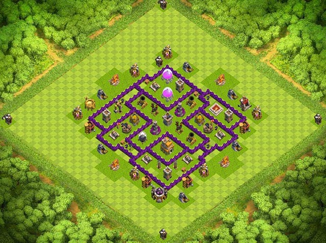 Base Town Hall 7 Clash of Clans Clan War