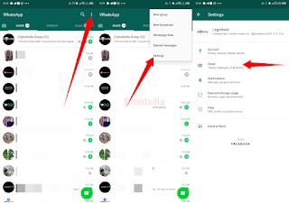 Whatsapp dark mode activation