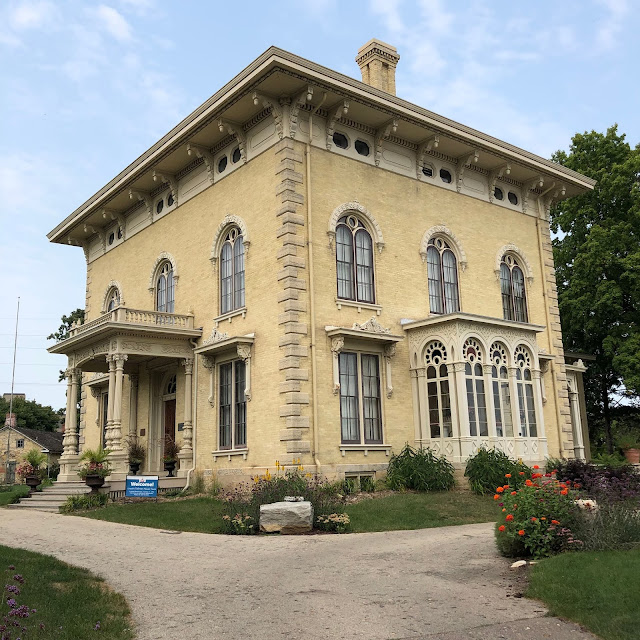 The 1857 Lincoln Tallman House constructed of beautiful Cream City brick  stands regally in Janesville.