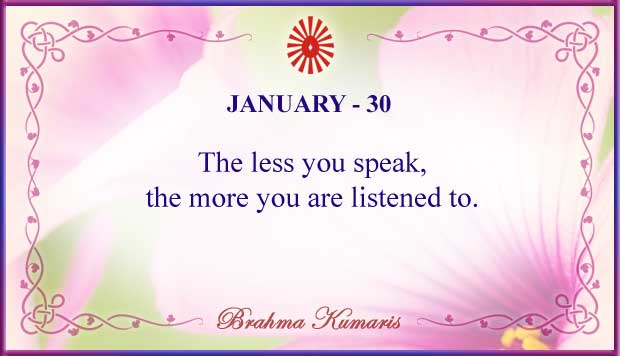 Thought For The Day January 30