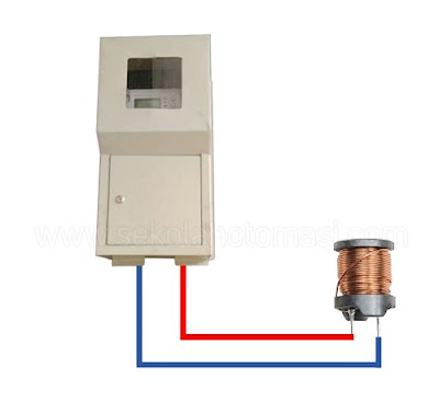 pemasangan induktor sumber AC