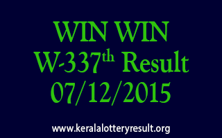WIN WIN W 337 Lottery Result 07-12-2015