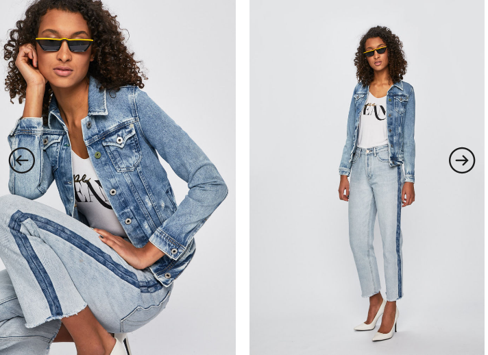 Pepe Jeans - Geaca Thrift x Wiser Wash din demim albastru