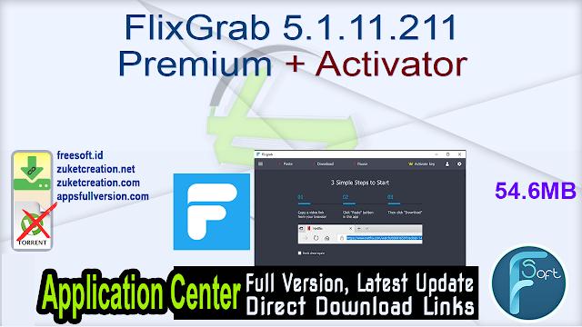 FlixGrab 5.1.11.211 Premium + Activator