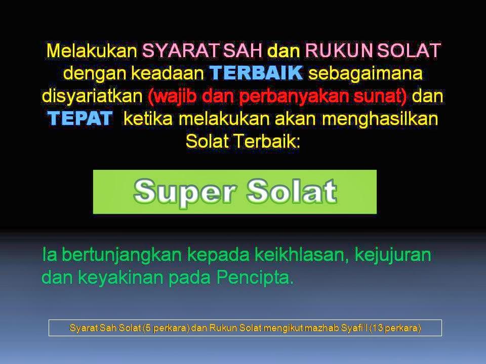 KEM SUPER SOLAT: KURSUS TERAPI SUPER SOLAT