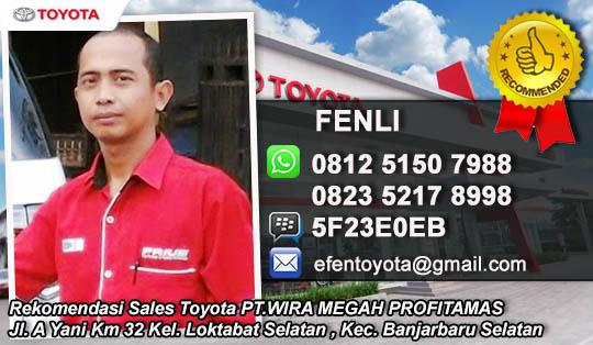Rekomendasi Sales Wira Toyota Banjarbaru, Kalimantan Selatan