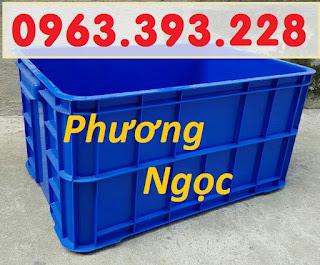 Thùng nhựa đặc HS019, hộp nhựa cao 31, thùng đặc 3T1, thùng đựng nông sản