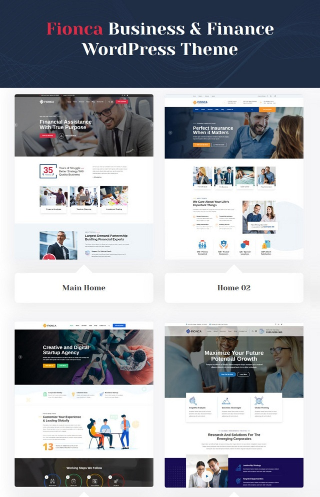 Business & Finance WordPress Template