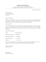 Job Appointment Letter Samples