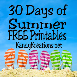30 days of Summer Free Printables