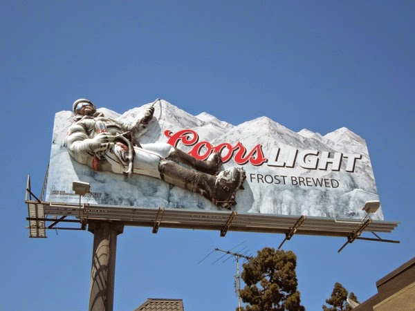 Coors Light Frost Brewed 3D mountain climber billboard