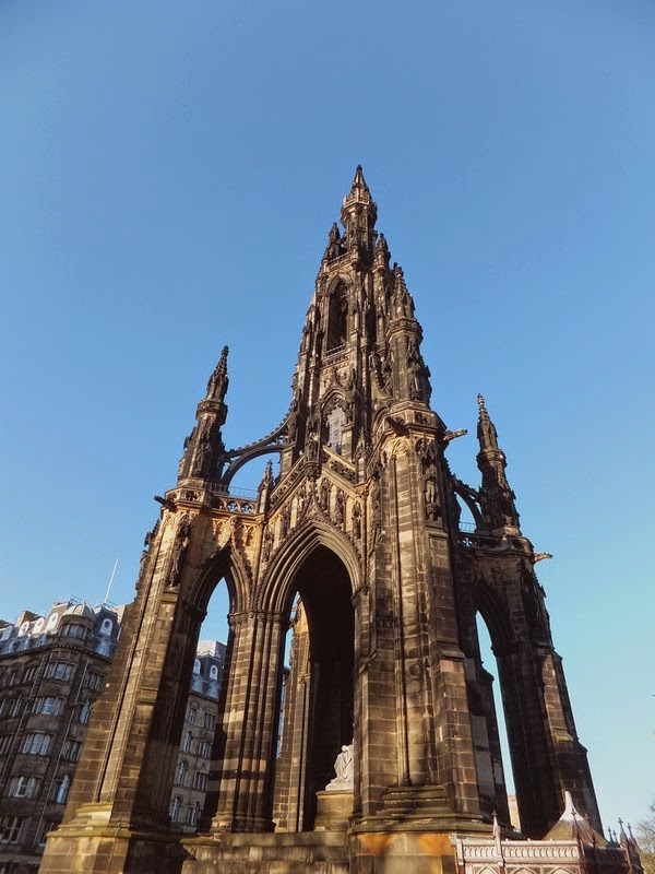 édimbourg edinburgh scotland écosse new town west end scott monument