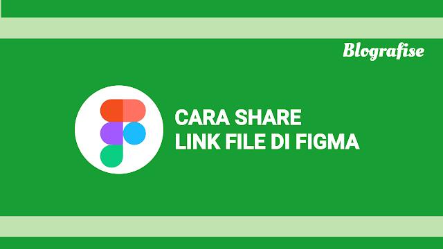 cara share link file di Figma