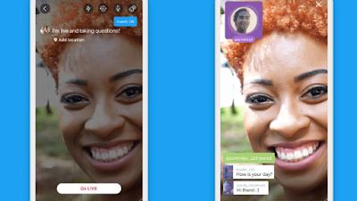 موقع التواصل الاجتماعي تويتر أضافة خاصية جديدة لتطبيق تتيح استضافة المشاهدين خلال البث المباشر مثل الفيسبوك