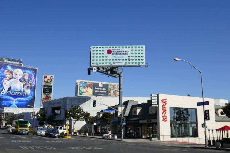 Freeform Kickoff to Christmas billboard