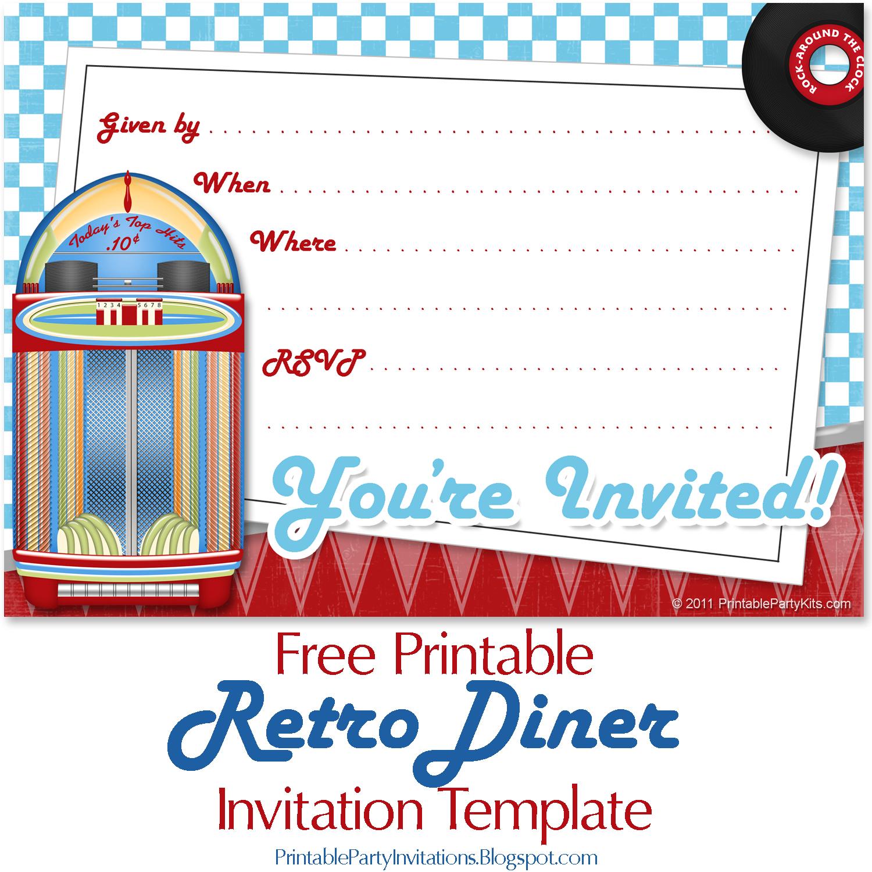 Free Invite Art For A S Or Retro Party