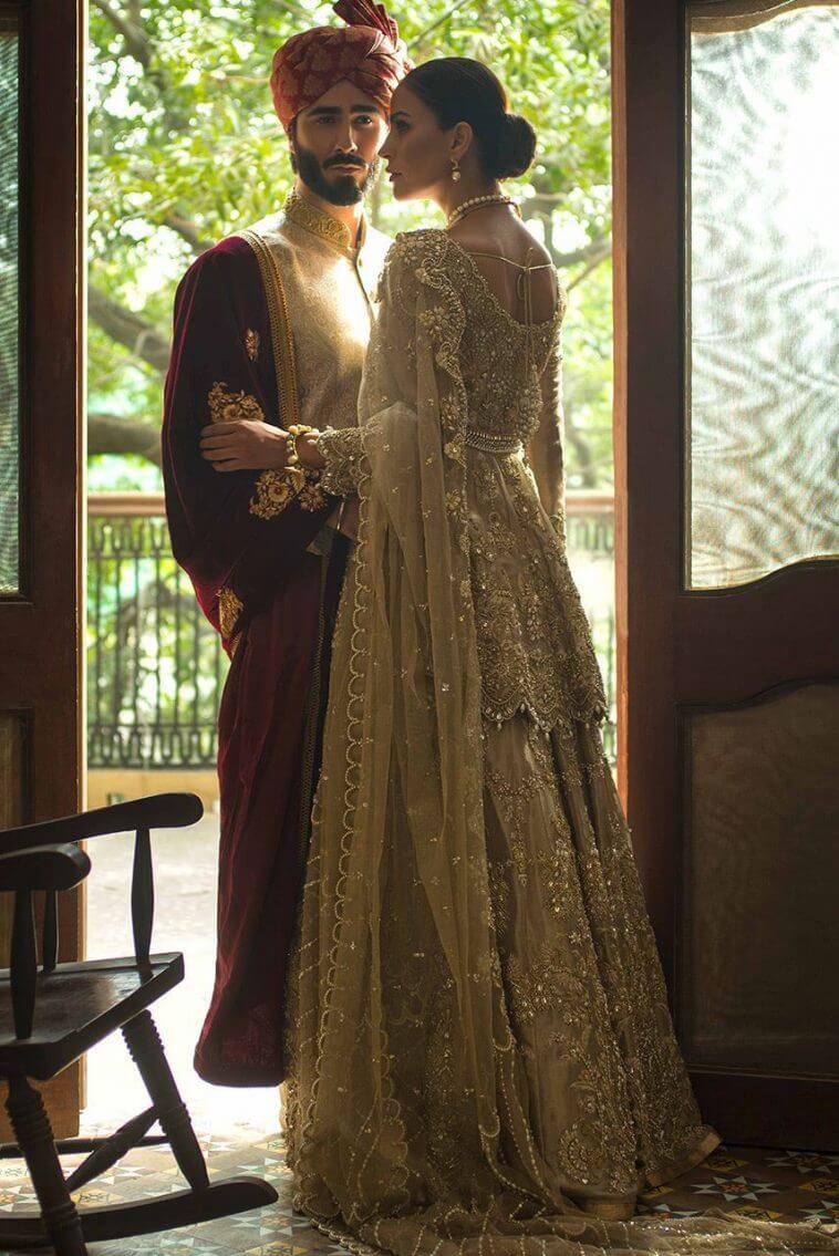 Beautiful Pakistani bridal peplum lehnga from Deepak Perwani collection USA Canada UK Australia