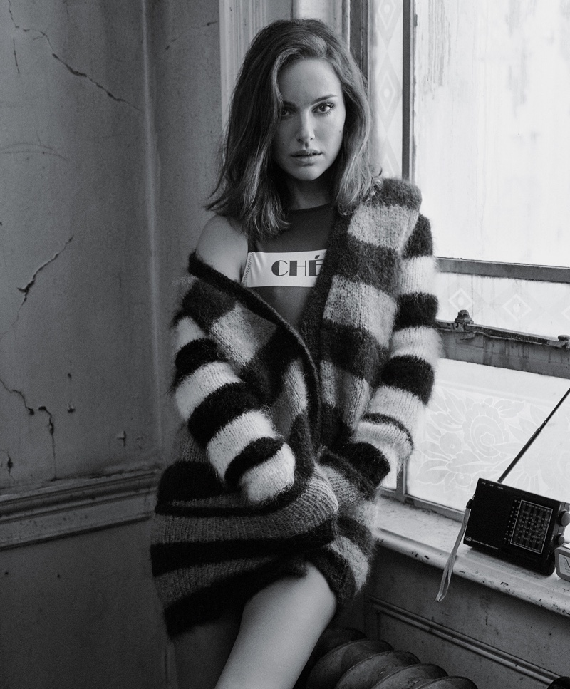 Natalie Portman Poses in Must-Have Sweaters for T Magazine