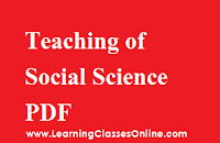 Pedagogy of Social Science notes, Pedagogy of Social Science book, Pedagogy of Social Science pdf, Pedagogy of Social Science material, Pedagogy of Social Science in English , Pedagogy of Social Science ebook, Pedagogy of Social Science b.ed,