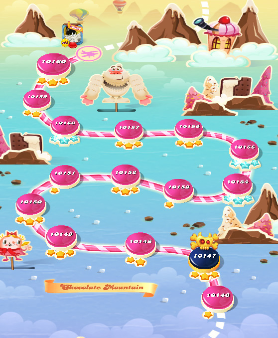 Candy Crush Saga level 10146-10160