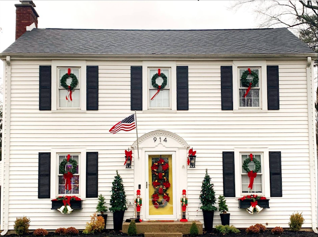 West Lafayette Indiana home, ready for Christmas: a 1939 Sears kit house, the Newcastle