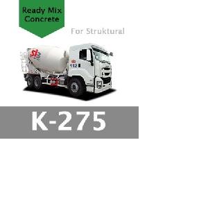 Harga Beton Cor Mutu K-275