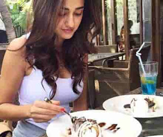 Disha Patani Eating Ice-Cream