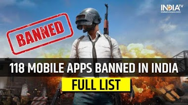 PUBG and 118 New Chinese Apps Banned by Indian Govt. Full list of BannedApps.