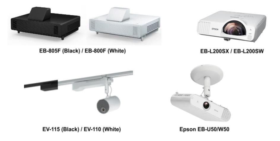 Epson EV-100 Projector Series