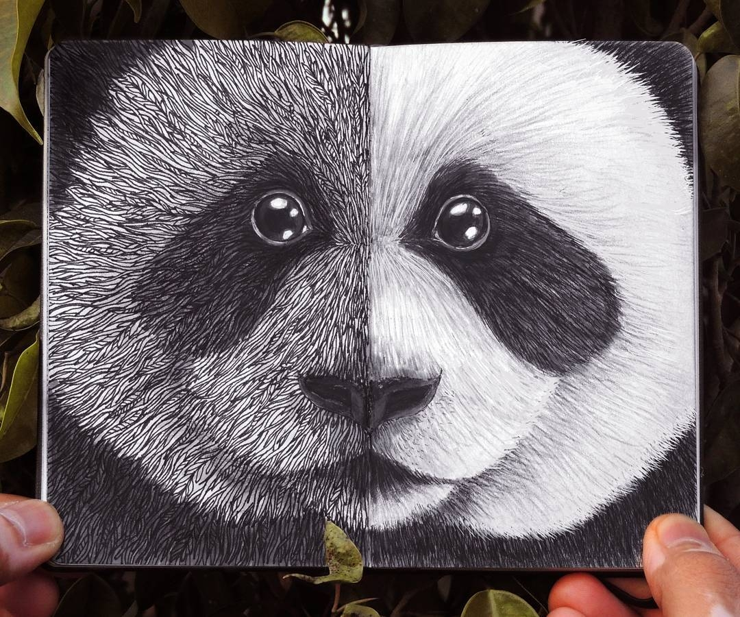03-Giant-Panda-Rohan-Sharad-Dahotre-Eclectic-Illustration-Styles-and-Exotic-Animals-www-designstack-co