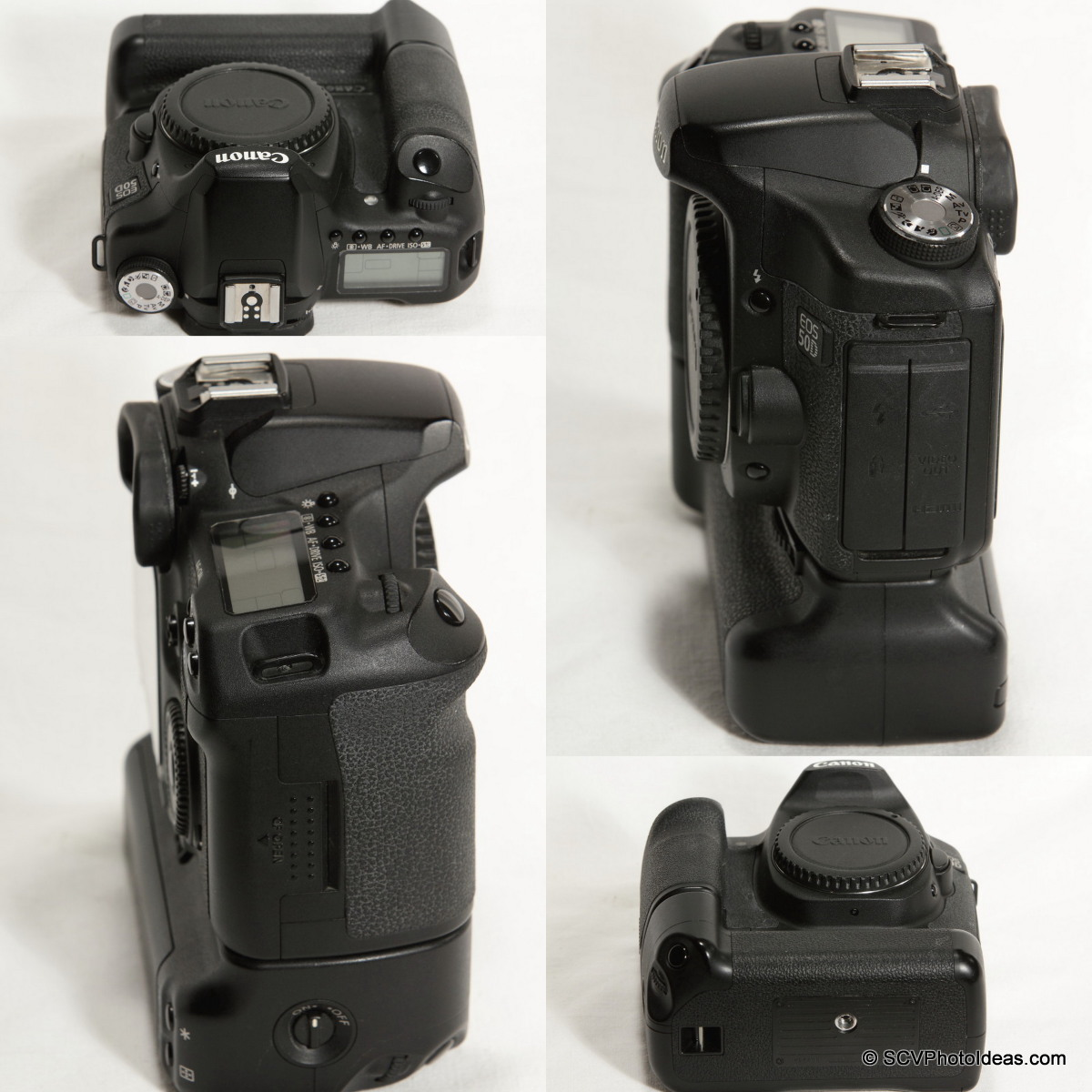 Canon EOS 50D Digital Camera with BG-EN2 battery grip overview